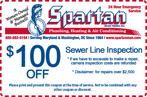 $100 Off Sewer Line Inspection